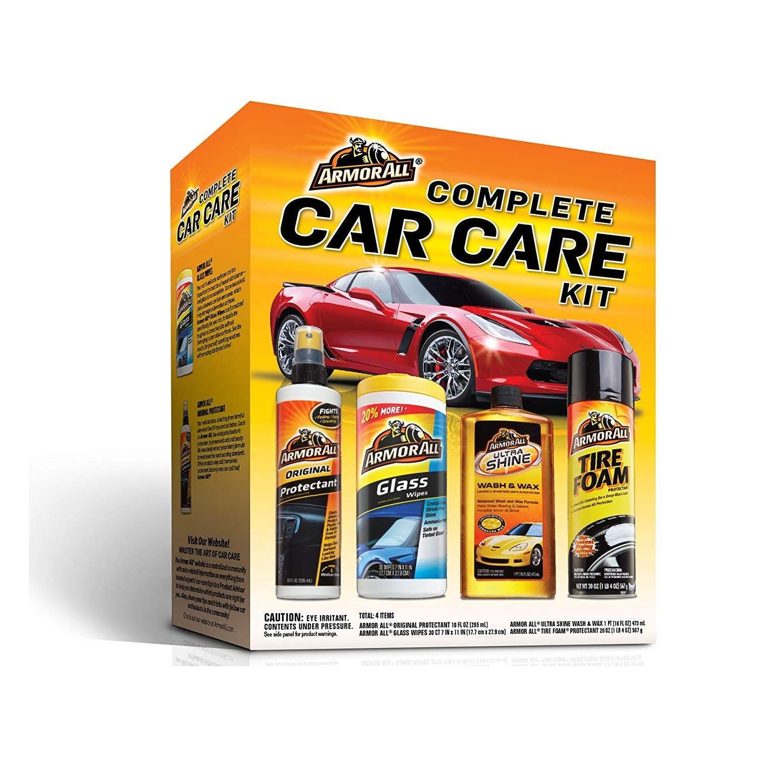 Armor All Complete Car Care Kit Amazon Com Ad 1 Kit 4 Items Included Automotive 10 Fl Oz Original Protectant Fights F Car Cleaning Kit Car Care Kit