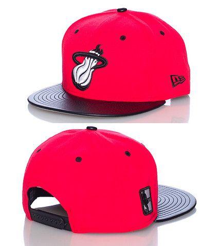 NEW ERA Miami Heat basketball snapback cap Adjustable strap on back  Embroidered team logo on front NEW ERA stitching on sides Polyurethane brim 1a3c5ff4ebe