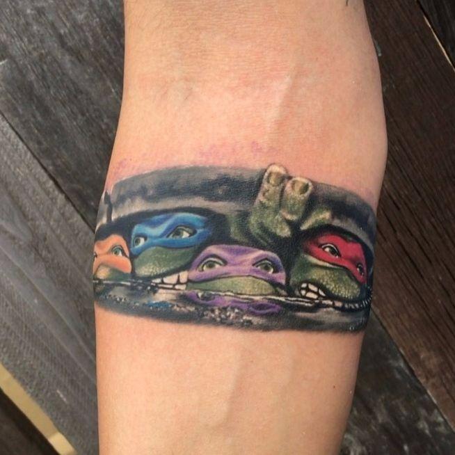 ninja turtles tattoo comics books and cartoons tattoos ideas pinterest ninja turtle. Black Bedroom Furniture Sets. Home Design Ideas