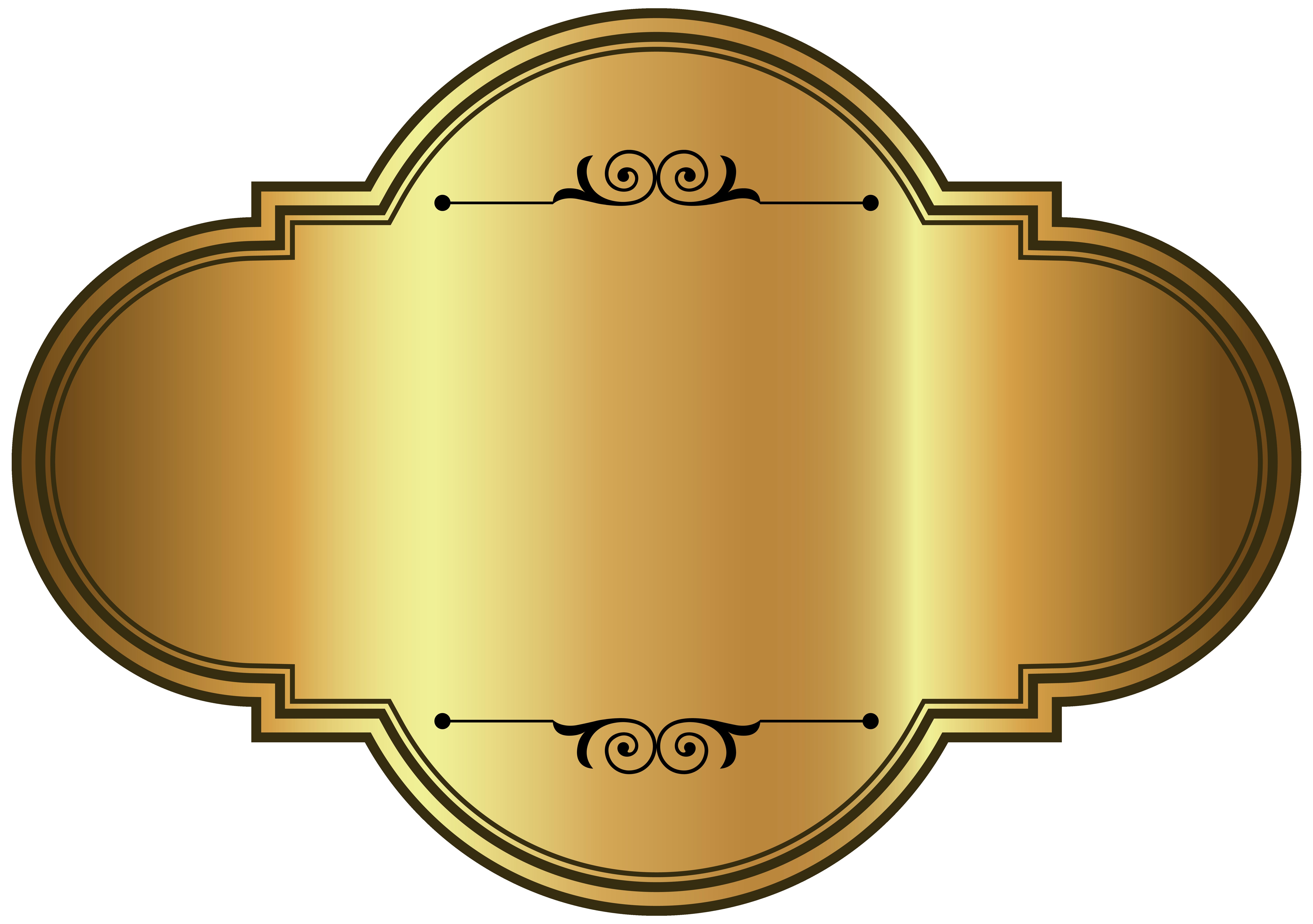 Golden Luxury Label Template PNG Clipart Picture Capas