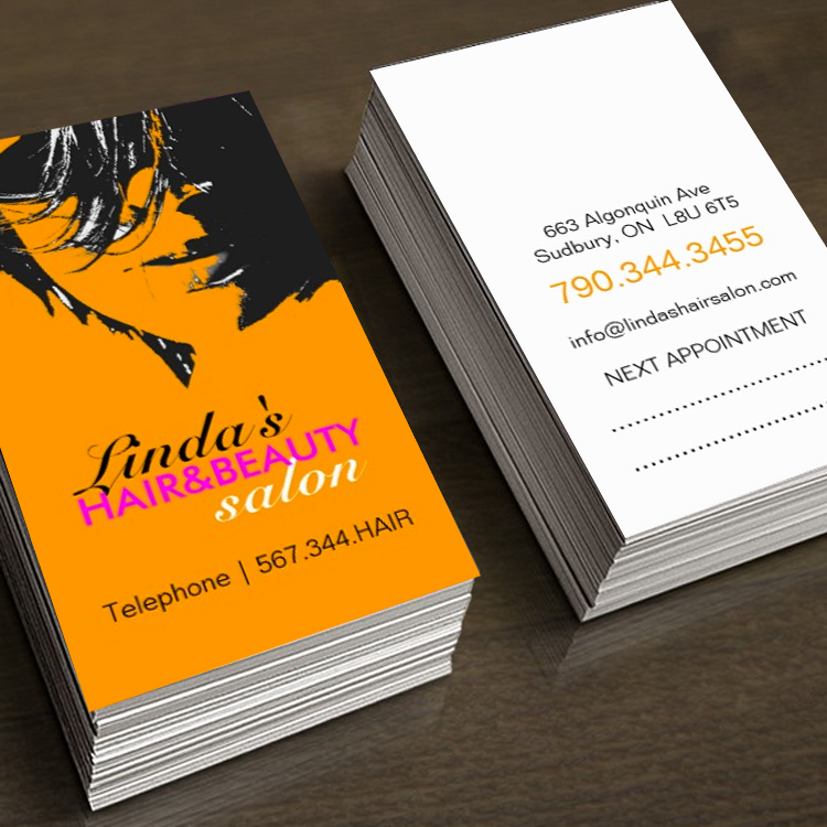 Hair salon business card | Business card templates, Hair salons ...