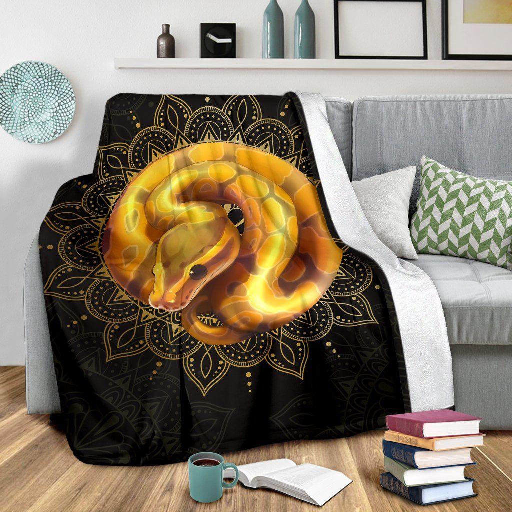 SN006 Banana Ball Python Premium Blanket