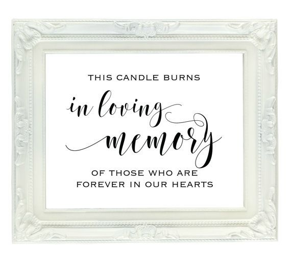 image regarding In Loving Memory Free Printable named This Candle Burns In just Loving Memory Of Those people Who Are Eternally