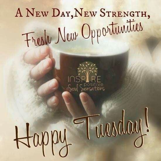 A Fresh New Happy Tuesday Good Morning Tuesday Tuesday Quotes Good