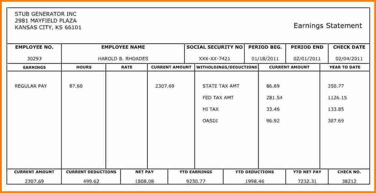28 1099 Contractor Pay Stub Template In 2020 Statement Template