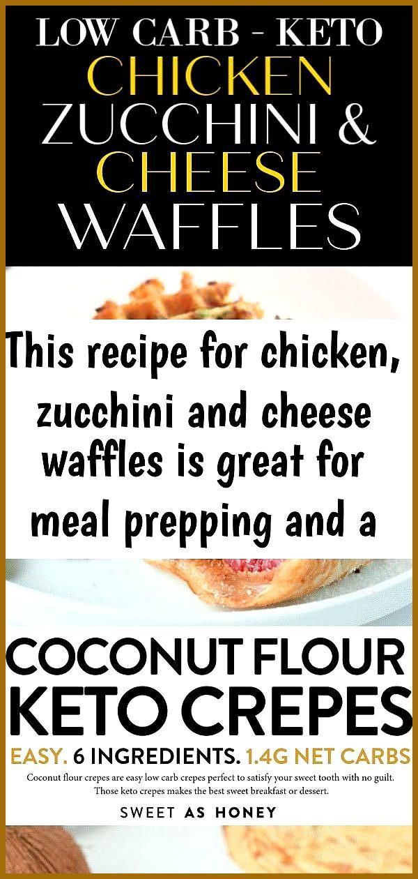 This recipe for chicken zucchini and cheese waffles is great for meal prepping and a tasty keto 2 T