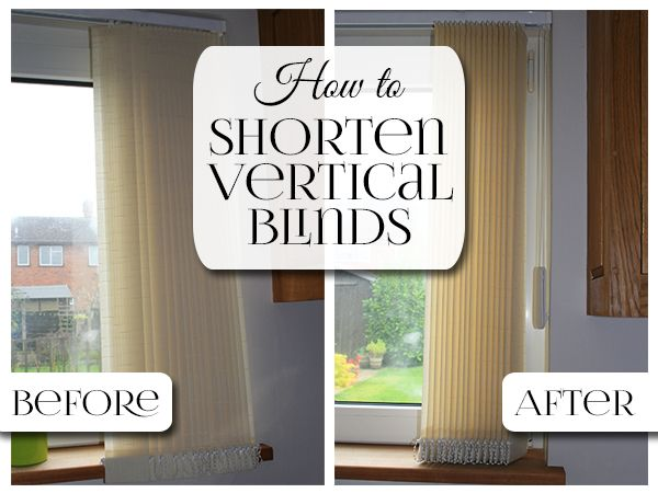 How To Shorten A Vertical Blind In 10 Easy Steps Vertical Blinds Blinds Home Repairs