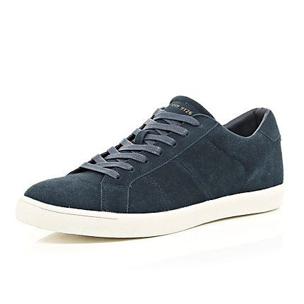 Navy suede trainers €55.00