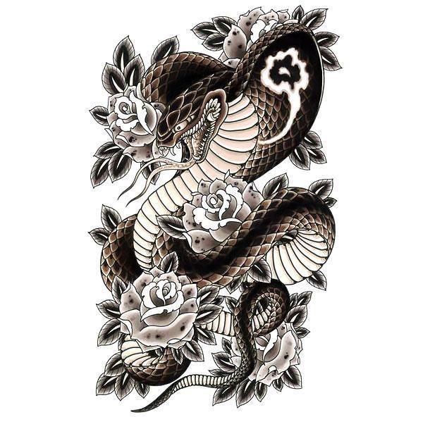 Dessin Tatouage Serpent afficher l'image d'origine | tattoo | tatouage, tatouage japonaise