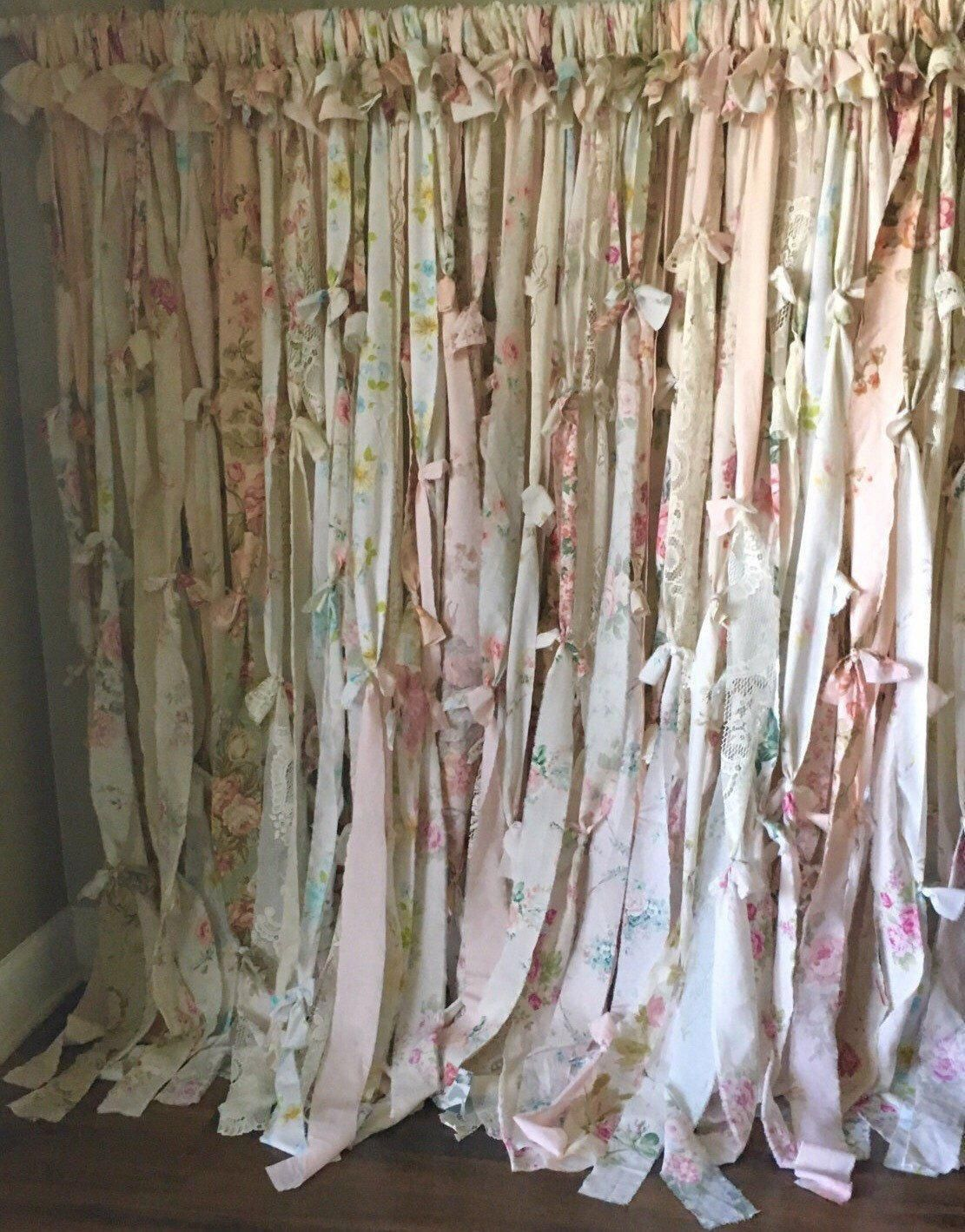 Cool u unique shabby chic shower curtain ideas for small bathroom