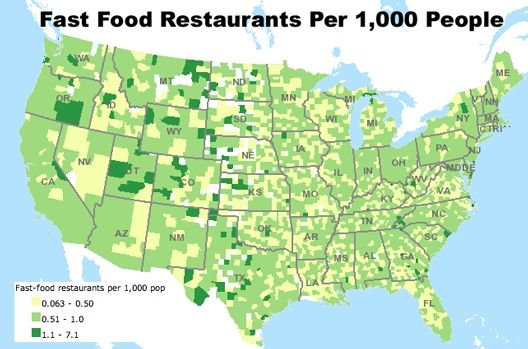 What Are We Eating And Where Food Facts Fast Food Restaurant - Us map of fast food restaurants