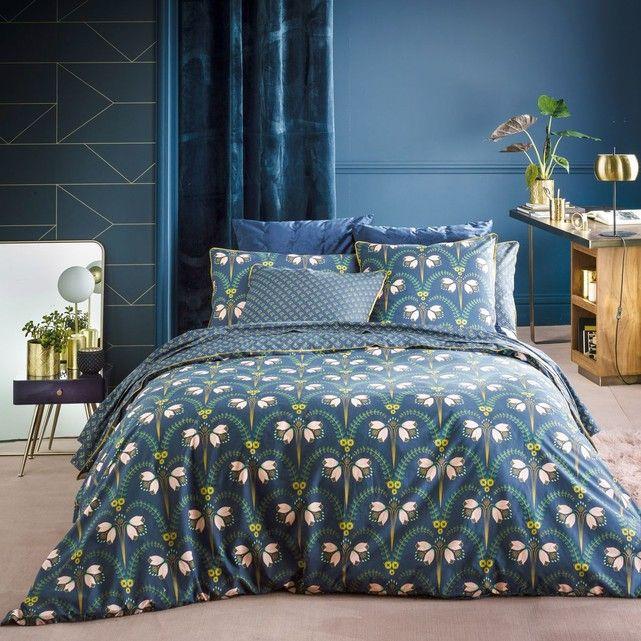 taie d oreiller imprim e en percale belladone couette. Black Bedroom Furniture Sets. Home Design Ideas
