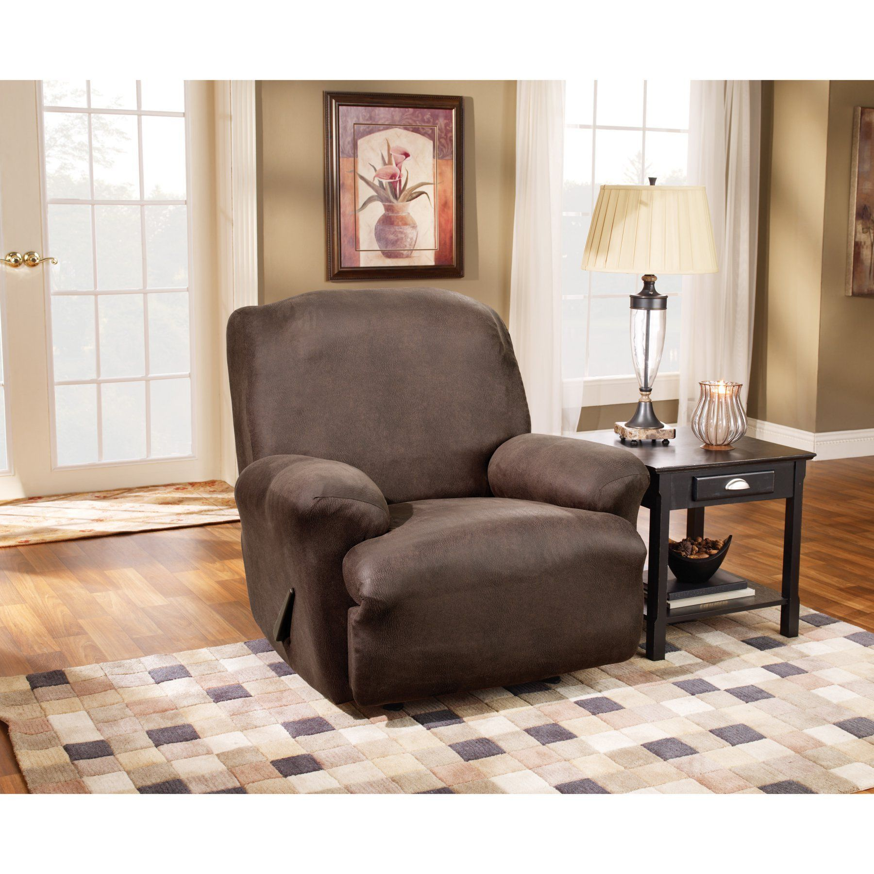 Sure Fit Stretch Leather Recliner Slipcover 37162