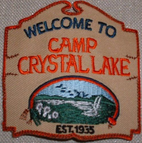 Patches Friday the 13th Camp Crystal Lake Embroidered Iron On Patch Set of 3