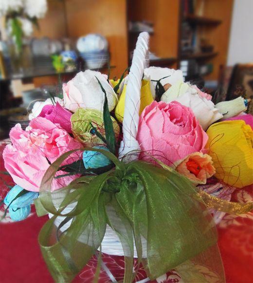 Candy bouquet/ конфетный букет/корзина/waving basket/плетение/ waving/яркая палитра/bright palette