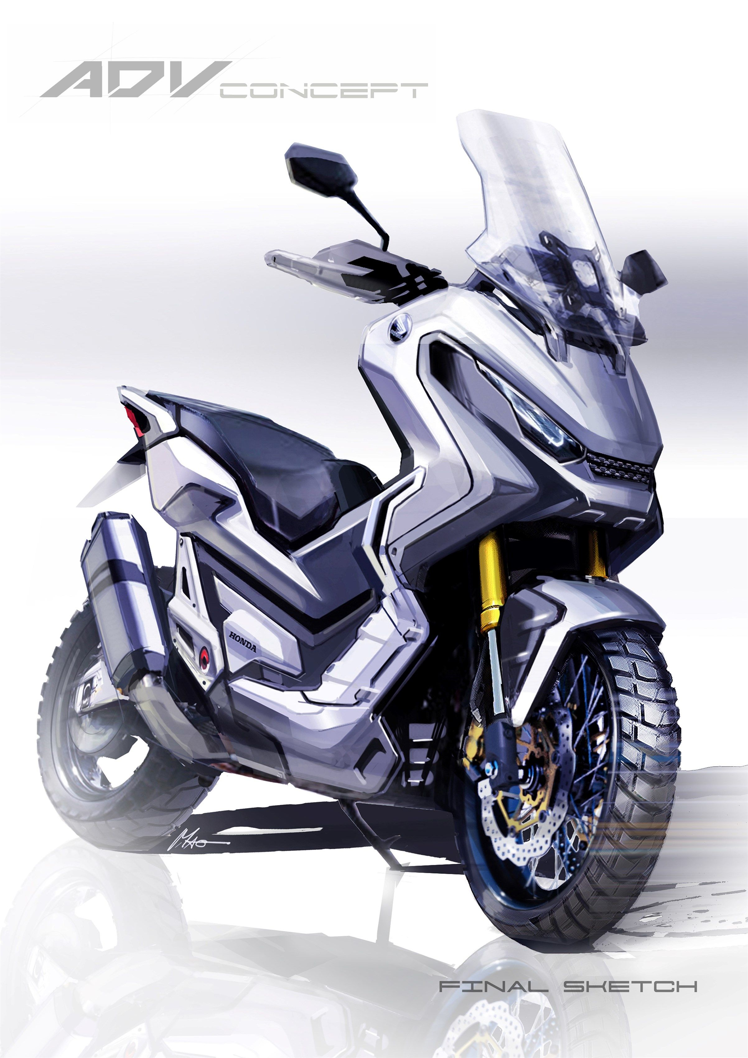 honda x adv 39 a scooter but not as we know it 39 motorhub bike concept scooter pinterest. Black Bedroom Furniture Sets. Home Design Ideas