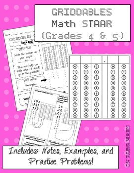 STAAR Griddable Practice Grades 4 and 5 | math | Secondary