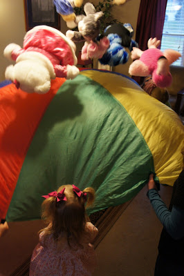Teddy Bear Parachute Game #teddybear