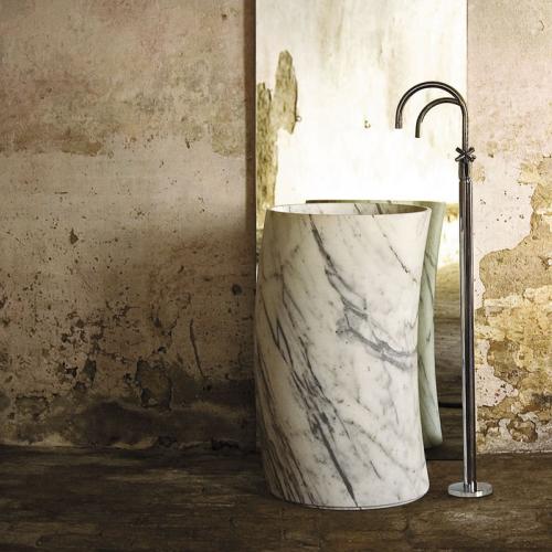 Lavandino lavabos de ba o tipo pedestal piedra natural y for Banos de piedra natural