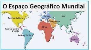 Resultado de imagem para imagem da  organização do espaço geográfico mundial