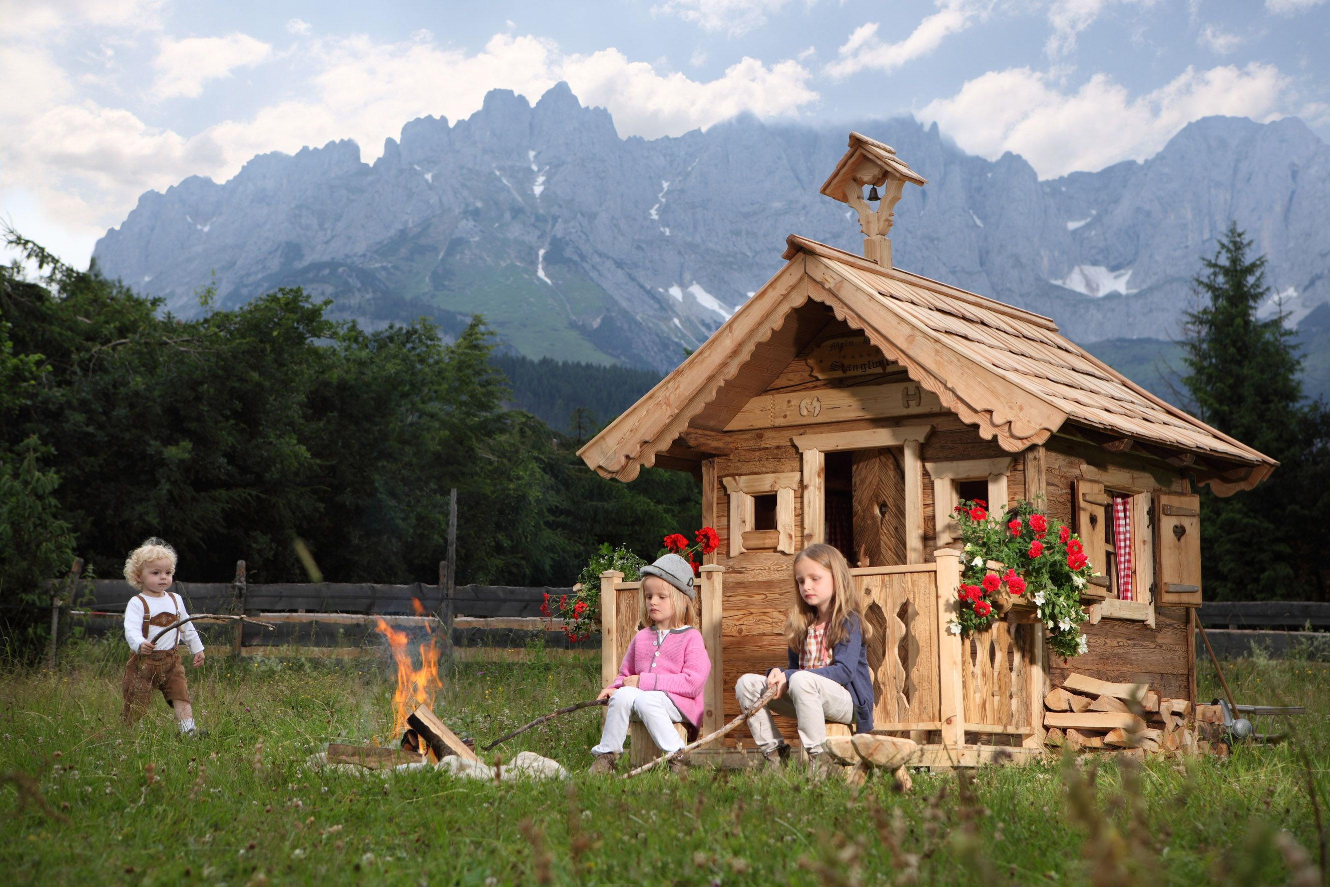 this play house is suited for all adventures. Made from solid wood with many details