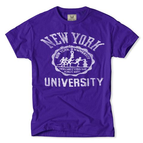 Nyu sports t shirt nyu violets pinterest violets for Alma mater t shirts