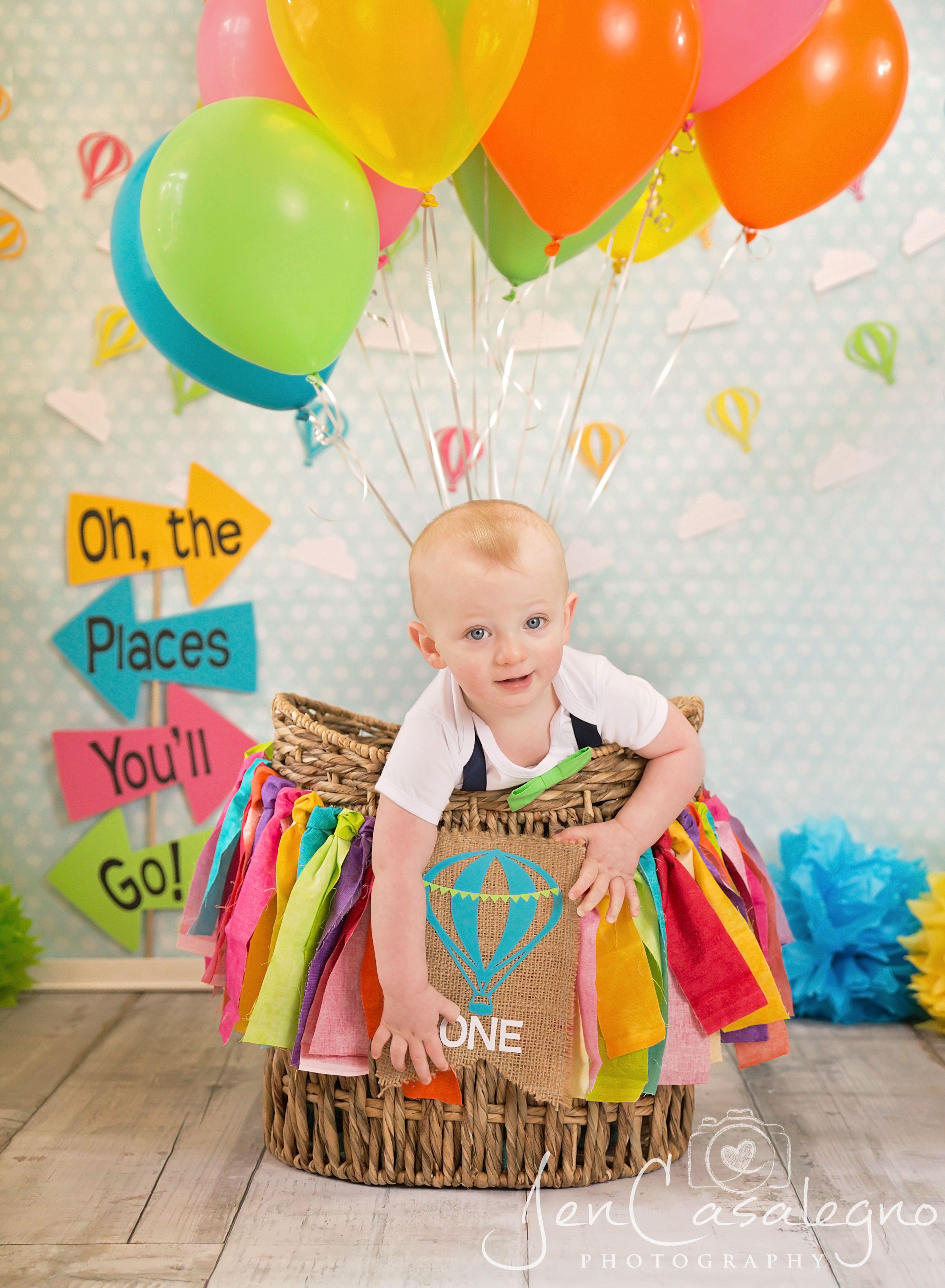 Dr Seuss Oh The Places You Ll Go Theme Birthday Hot Air Balloon Photograph Photo Sh Boys First Birthday Party Ideas First Birthday Pictures 1st Boy Birthday