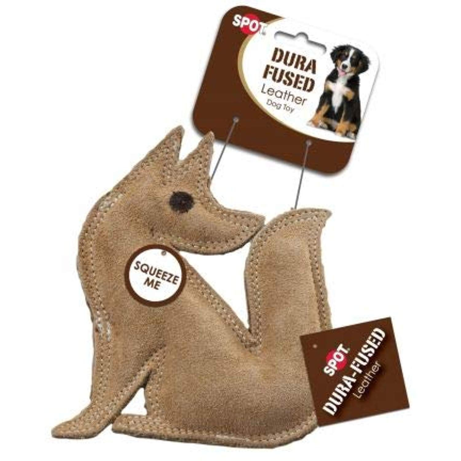 Spot Dura Fused Leather Fox Dog Toy 14 Pack Read More At The