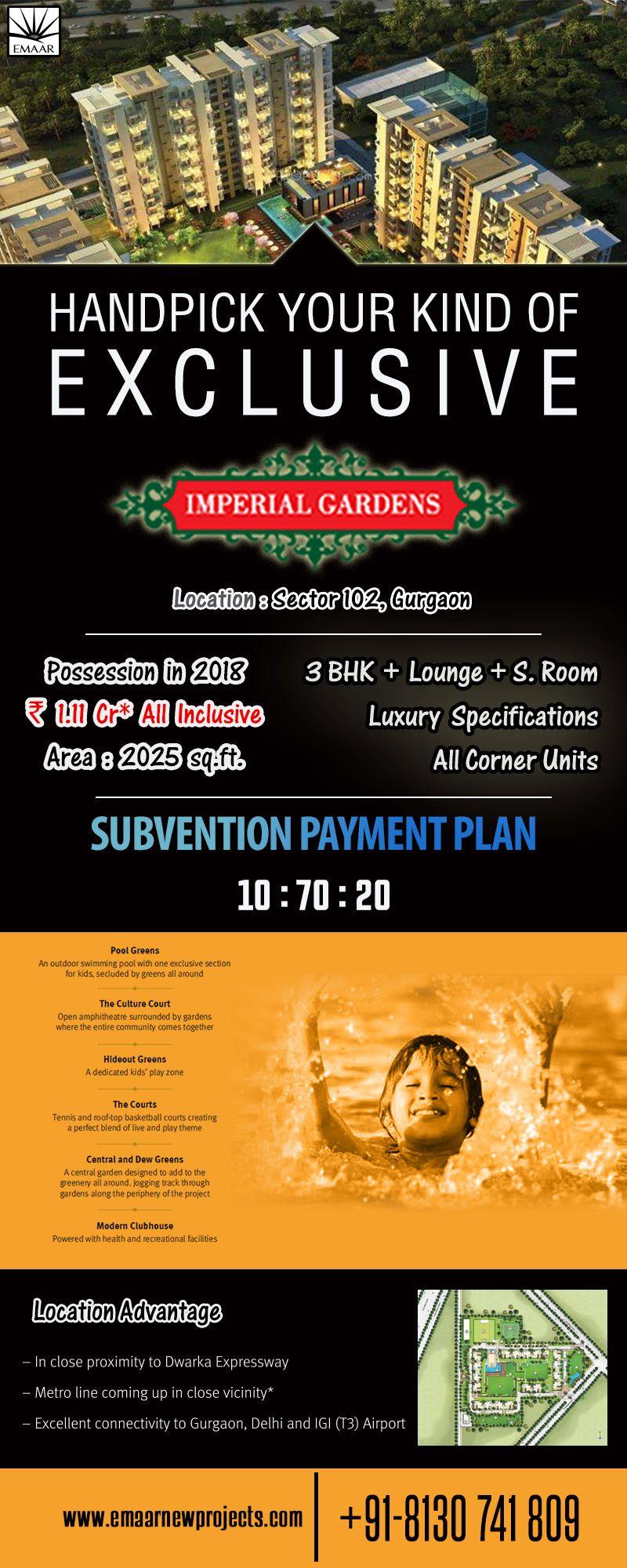 Emaar India presents Emaar Imperial Gardens is located in