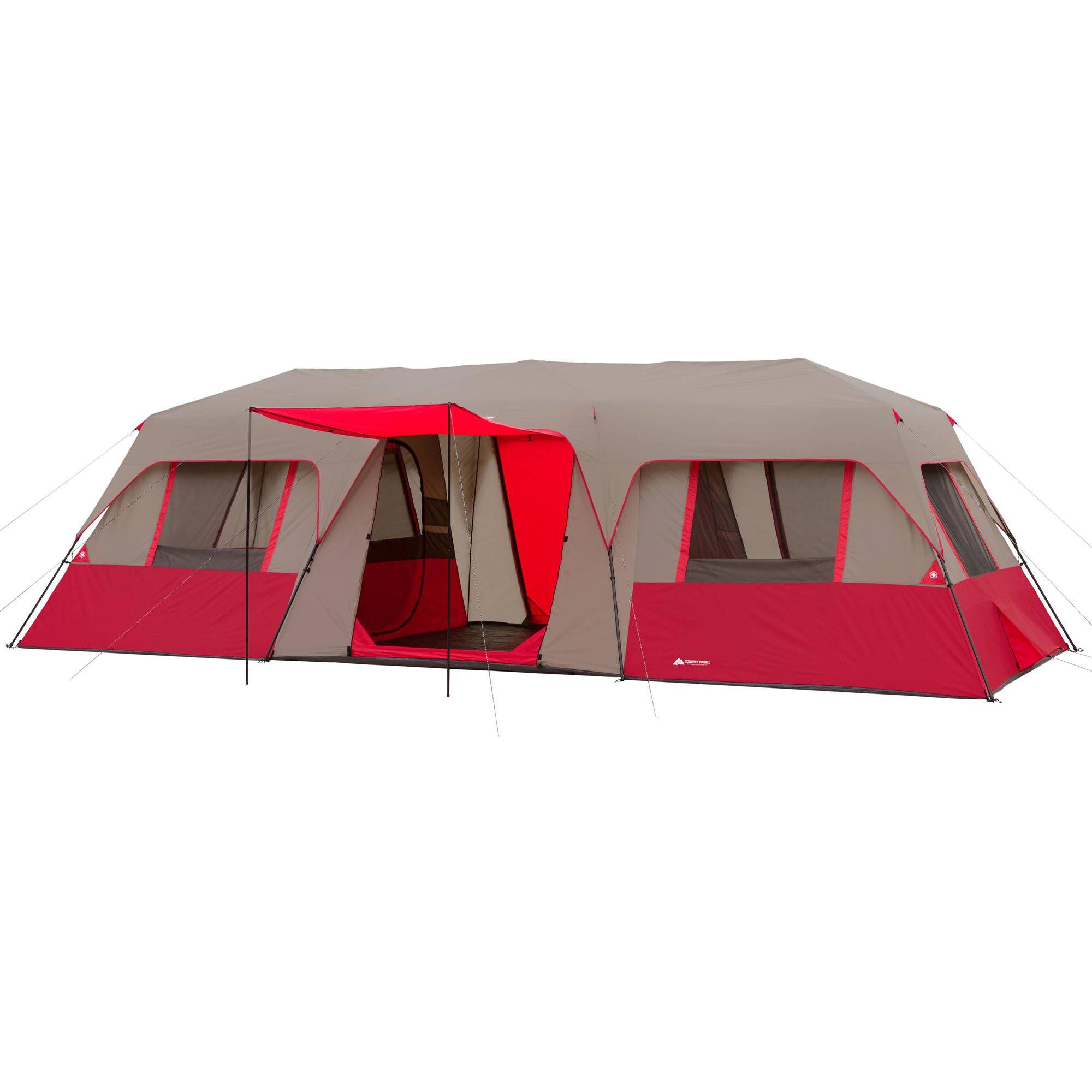 Buy Ozark Trail 15 Person 3 Room Split Plan Instant Cabin Tent At