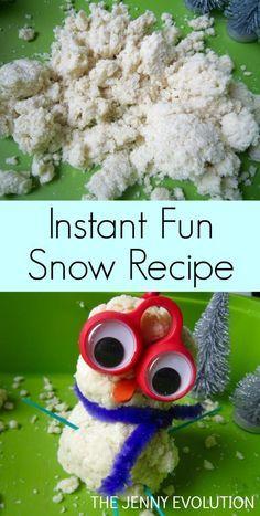Instant Sensory Potato Snow Recipe. Gluten Free!