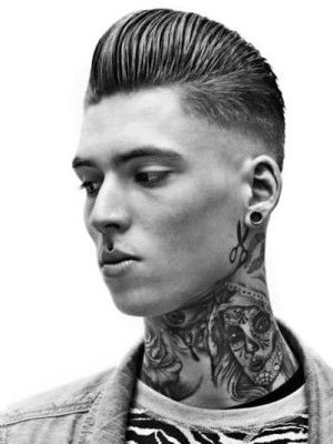 Razor Faded Pompadour Hairstyle 5
