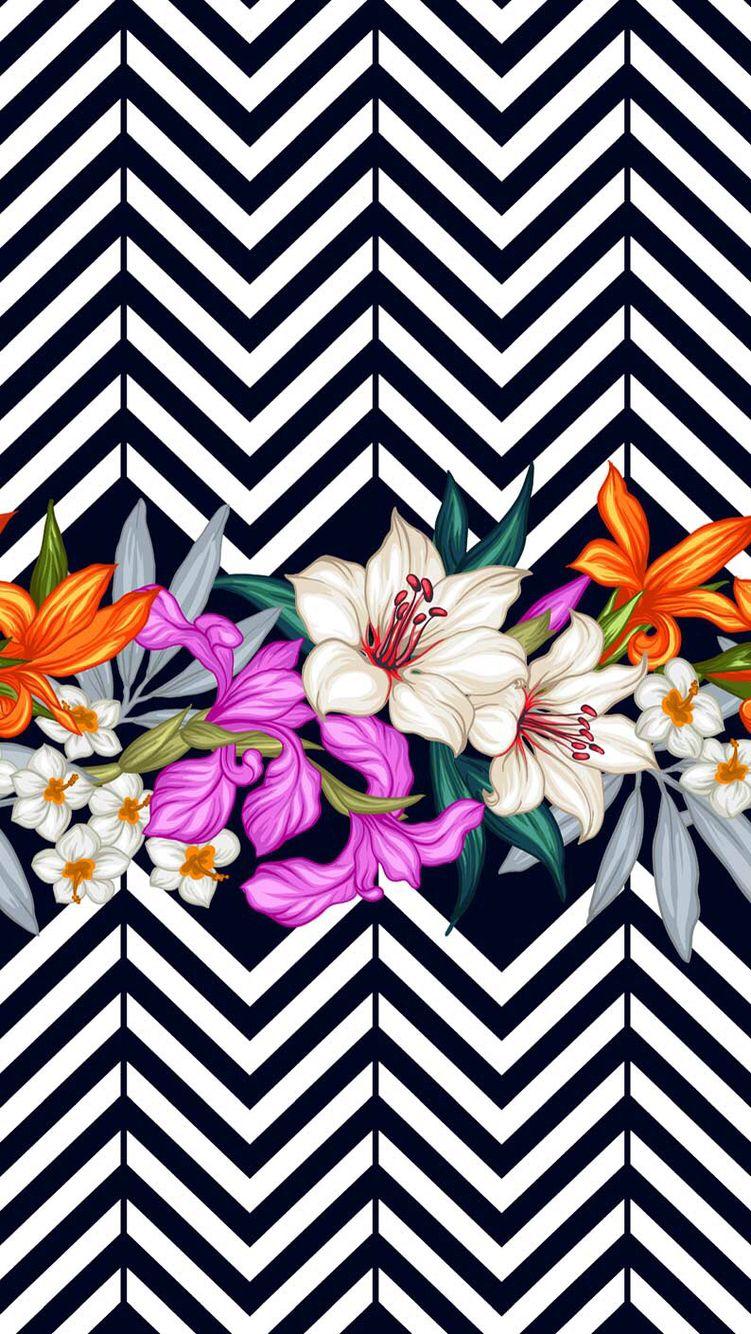 Wallpaper IPhone Iphone Flowers Rose And Black Resmi Supreme