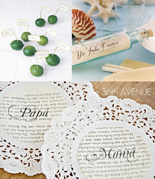 leuke naamkaartjes   Decoration   Pinterest   Decoration and Wedding