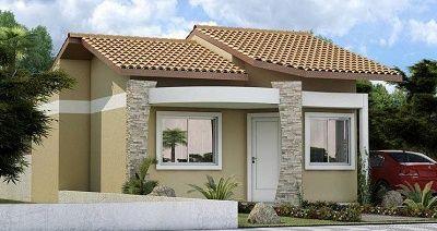 Fachadas de casas sencillas estilos pinterest casas for Colores de fachadas de casas sencillas