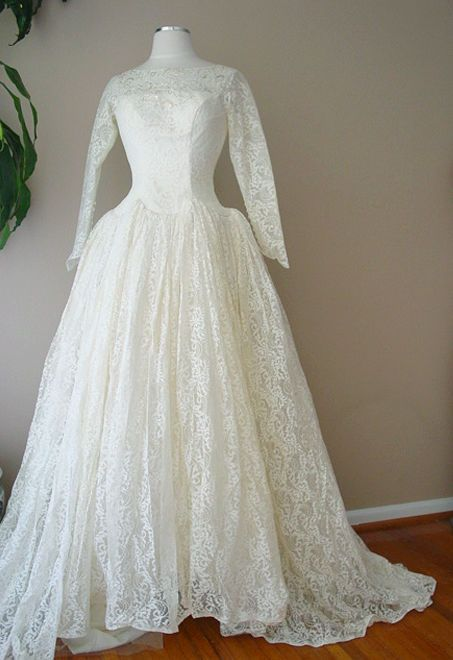 Vintage Cahill Beverly Hills Lace Pearl Sequin Victorian Ivory