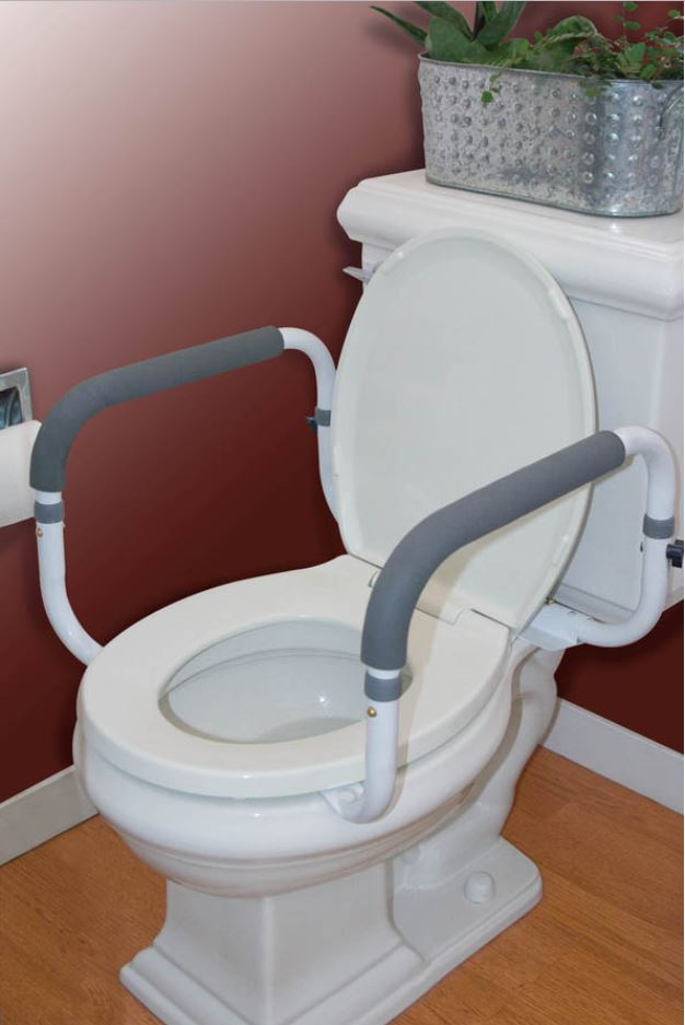 Toilet Support Adjustable Width Rail In 2020 Grab Bars In