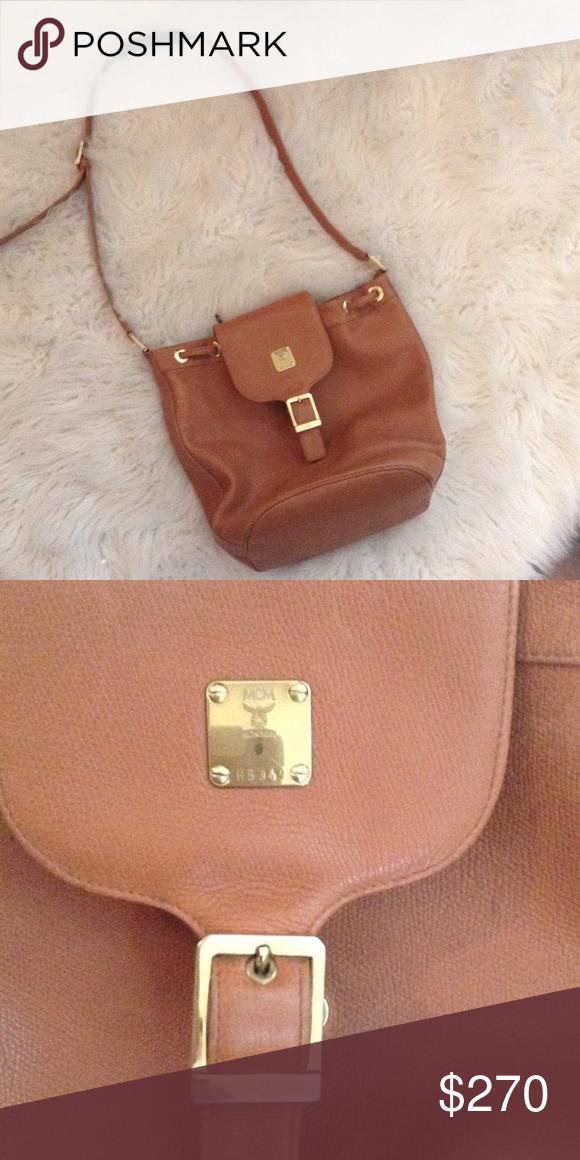 a6d8fb42c8b Beautiful MCM bag! This is authentic MCM leather bag. Has a drawstring top  an