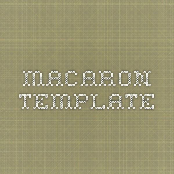 macaron template Macaron Ideas Pinterest - macaron template