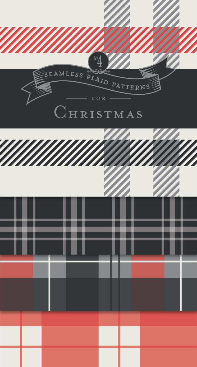 FREE Seamless Plaid Patterns for Christmas - Designs By Miss Mandee. These four lovely patterns make great digital backgrounds or even wrapping paper for Christmas gifts! Download and print some for yourself.