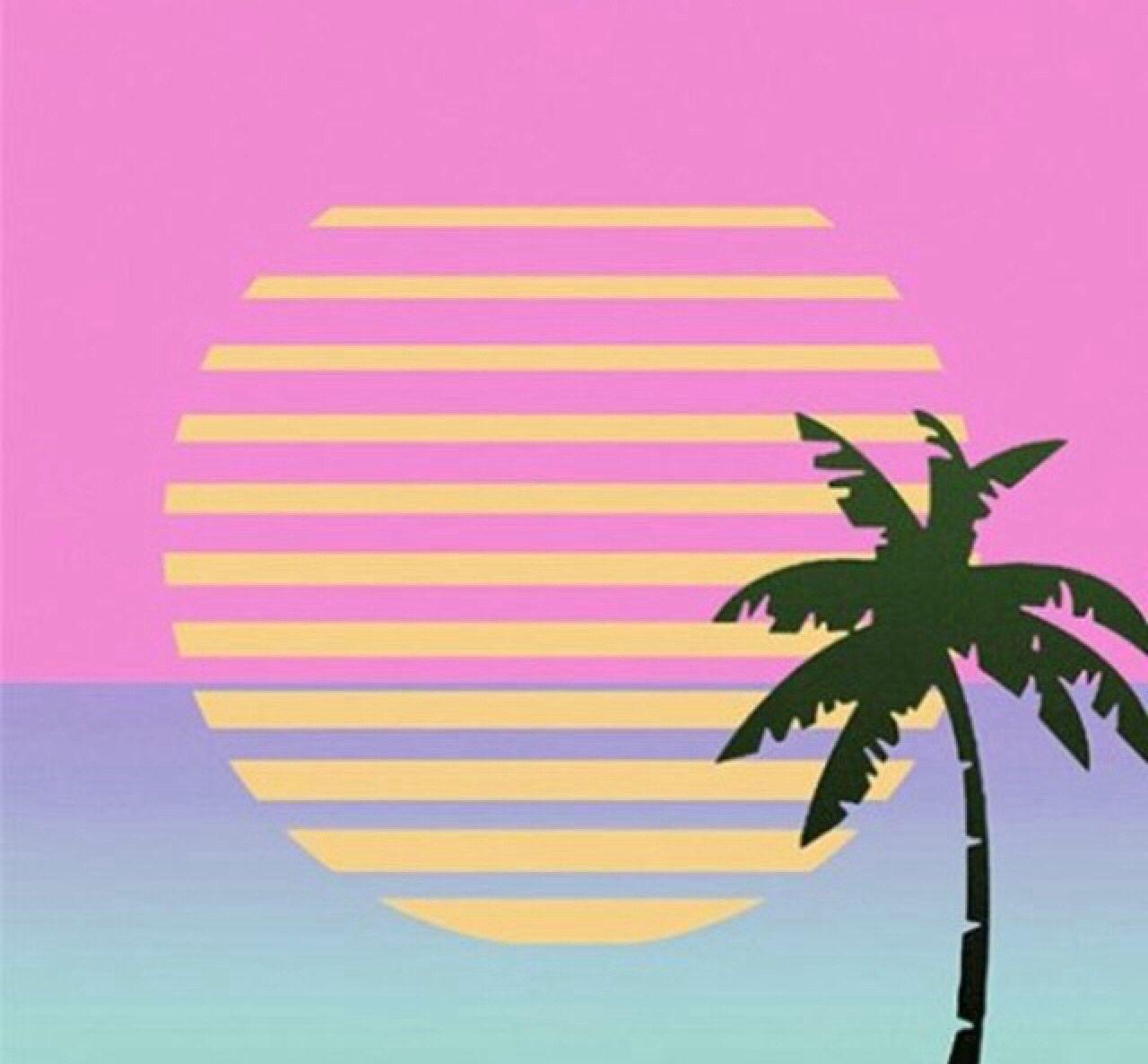 80s Palm Tree Art