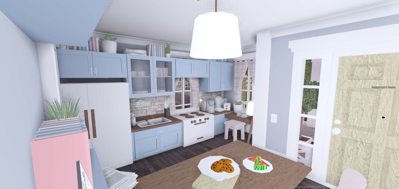 cute kitty on in 2020 Pastel house, Building a house, House