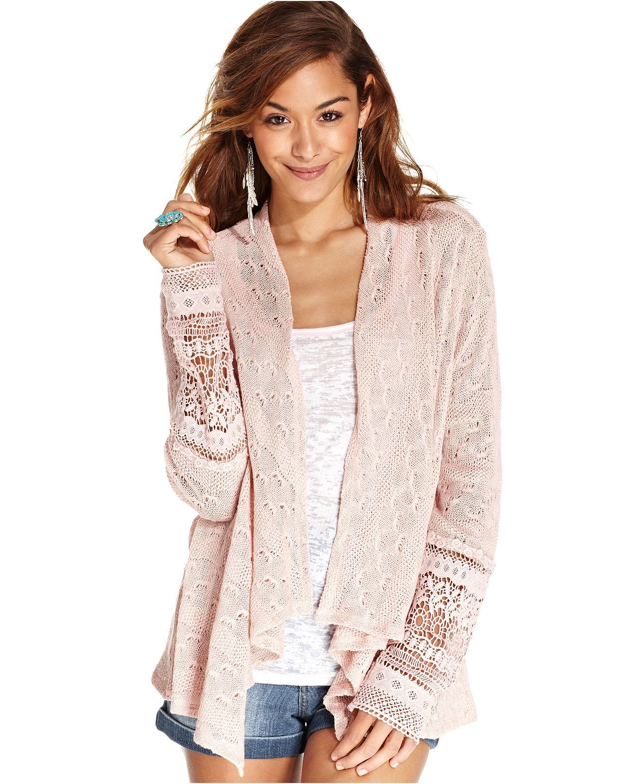 777f3b4036 American Rag Open-Front Cardigan - Juniors Sweaters - Macy s ...
