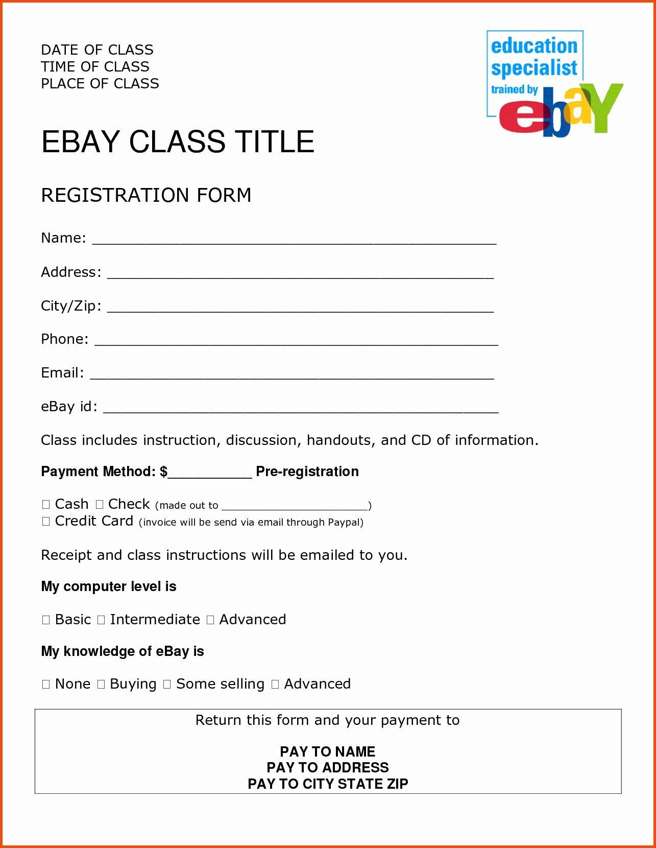 Event Registration Form Template Word In 2020 Registration Form