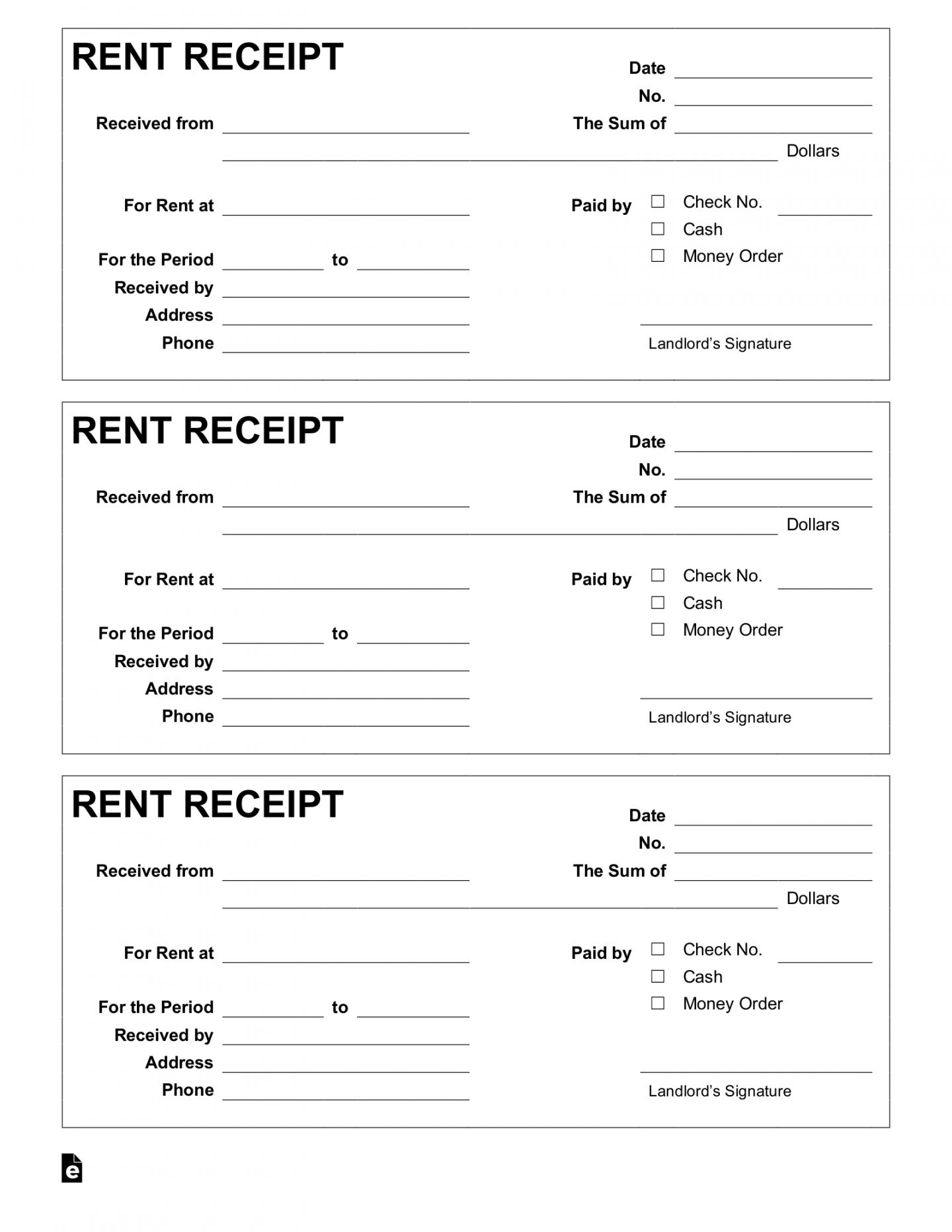 Browse Our Sample Of Apartment Rental Receipt Template Receipt Template Free Receipt Template Receipt