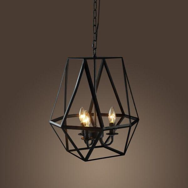 Elegant Antique Iron Light Fixture