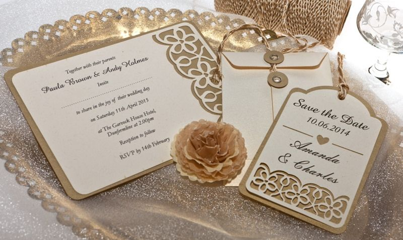 antique gold wedding stationery from razzle dazzle rose www