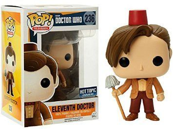 Funko Pop Tv Doctor Who Dr 11 Fez Hat And Mop Exclusive Vinyl Figure Funko Pop Tv Eleventh Doctor Funko