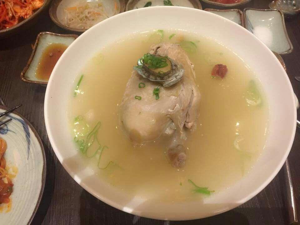 ginseng chicken soup samgyetang koreanfood healthy