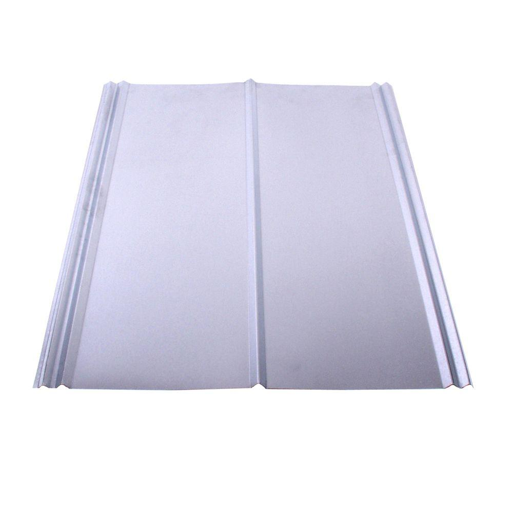 Fabral 26 In X 12 Ft Galvanized Steel 5v Crimp Roof Panel 4737102000 The Home Depot Roof Panels Corrugated Metal Roof Galvanized Steel